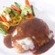 CHICKEN SYMPHONY - Chicken Breast Ham, Cheese, Gravy Sauce with Mixed Vegetables & Fresh Tagliatelle