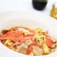 HOMEMADE FETTUCCINE with SALMON - Smoked Salmon with Fresh Tomato or Fresh Cream Sauce