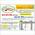 Arcobaleno's Special Promotion - Save Up To 10% Internet Special Coupon